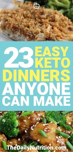 Looking for some keto dinners? Here are 23 of my favorite ketogenic diet meals to prepare at night.