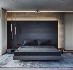 49 Minimalist Bedroom Design Ideas for Simple your Home is part of Bedroom lamps design - A minimalist design style is a good pick for a bedroom, since the space should be relaxing Also always remember […] Bedroom Lamps Design, Luxury Bedroom Design, Master Bedroom Design, Home Decor Bedroom, Home Interior Design, Bedroom Furniture, Bedroom Lighting, Bedroom Designs, Diy Bedroom