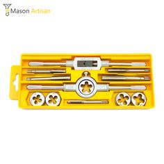 12/20/40Pcs/Set Alloy Steel Tap and Die Set Metric Tapping Threading Machine Thread Gauge Drift Holder Hand Tools