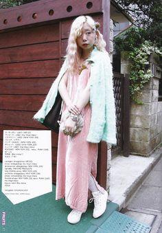 ❀(●‿-)❀ Harajuku Girls, Harajuku Fashion, Harajuku Style, Asian Street Style, Japanese Street Fashion, Fashion Mag, Layered Fashion, Virtual Fashion, Alternative Fashion