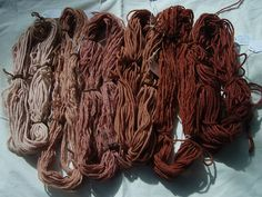 natural dye movement...This one from avocado pits and skins. this would make more use of the massive amounts of avocados i purchase.