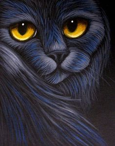 Art: BLUE-BLACK CAT 1 by Artist Cyra R. Cancel