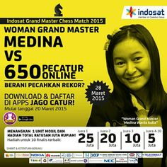 Indosat Grand Master Chess Match 2015  Download app via Play Store : http://bit.ly/JAGOCatur Info : www.indosat.com/jagocatur  #Indosat #GrandMaster #Chess #Match #2015 #Games #Online #OnlineGames #RekorMuri #Record #Muri #Indonesia #Catur #Kompetisi #Competition #WomanGrandMaster #Contest