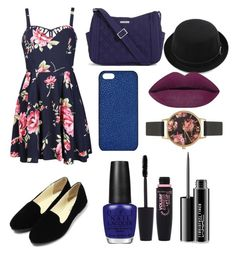 """Blue"" by gloria09102 on Polyvore featuring Ally Fashion, Maison Takuya, Vera Bradley, OPI, Maybelline, MAC Cosmetics and Olivia Burton"