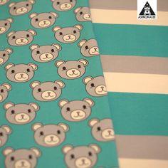 Kuschelfreunde-Kollektion von #astrokatze #stoffkollektion #stoffdesign #textildesign #pattern #kuschelfreunde #kuschelfreundekollektion #teddy #baer #baerchen #bear #stoff #fabric #sewing #diy #blockstreifen #blockstripes