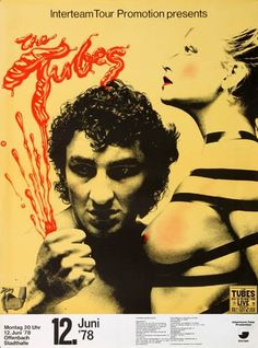 The Tubes - What do you want from Live 1978 - Poster Plakat Konzertposter