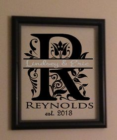 Personalized Split Letter Anniversary or by RachelsVinylCrafts, $30.00
