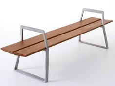 BACKLESS DIE CAST ALUMINIUM BENCH A-BENCH BY NOLA INDUSTRIER | DESIGN ANTONIO SCAFFIDI