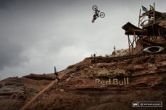 An almost perfectly executed flip off the middle booter was rewarded with a pretty horrifying fall off the side of the landing. Get well soo...