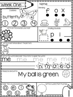 FREE Kindergarten morning work