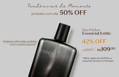 Compre online na Rede Natura o deo parfum Essencial Estilo masculino com 42% OFF. Promoção válida de 03 a 05/out ou enquanto durarem os estoques. Produtos que são tendência Por tempo limitado. Aproveite!