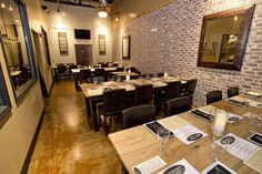 WG Kitchen & Bar is the newest restaurant to open its doors on The Banks. Dining room area.