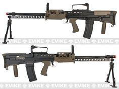 ICS Full Metal L86A2 British Military Full Size Airsoft AEG Rifle, Airsoft Guns, Airsoft Electric Rifles, ICS - Evike.com Airsoft Superstore