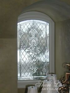 Beveled Glass window in a private home