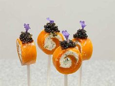 Perfect Amuse Bouches! Smoked salmon and cream cheese is always good in my books.