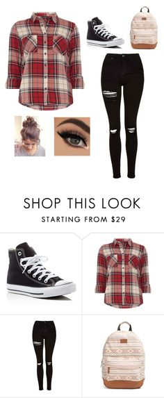 """""""Back To School 😑😂"""" by hope-257 ❤ liked on Polyvore featuring Converse, Dorothy Perkins, Topshop, Rip Curl, BackToSchool, flannel, messybun, bleh and MadeByAshleeSwift"""