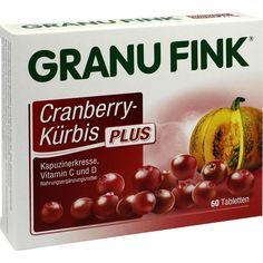 GRANU FINK Cranberry-Kürbis PLUS Tabletten:   Packungsinhalt: 60 St Tabletten PZN: 10020357 Hersteller: Omega Pharma Deutschland GmbH…