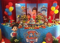 Throw an exceptional get-together for your children's birthday party with these 7 fascinating paw patrol party ideas. The thoughts must be convenient to those who become the true fans of Paw Patrol show. Paw Patrol Show, Paw Patrol Party, Paw Patrol Birthday Theme, Boy Birthday, Birthday Ideas, Birthday Nails, Birthday Present Diy, Deco Ballon, Cumple Paw Patrol