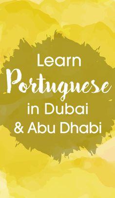 Learn to Speak Portuguese Learn To Speak Portuguese, Learn Brazilian Portuguese, Portuguese Lessons, Portuguese Language, Training Center, Abu Dhabi, Vocabulary, Dubai, How To Plan