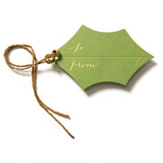 Paper: Green Sold As: Box of 5 holly gift tags with ties and gold beads Detail: Gold foil lettering made in the usa Christmas Gift Wrapping, Diy Christmas Gifts, Handmade Christmas, Christmas Decorations, Christmas Cards, Diy Christmas Gift Tags, Holiday Gifts, Green Christmas, Wrapping Ideas