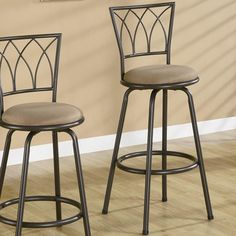 """Coaster Dining Chairs and Bar Stools 29"""" Metal Bar Stool with Upholstered Seat - Coaster Fine Furniture"""