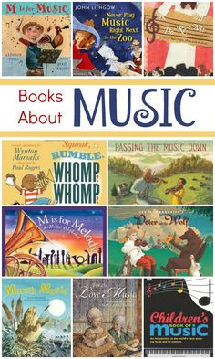 Children's Books About Music: awesome list of music books for kid's. We love music picture books!