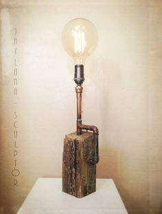Functional art and steampunk lights, repurposed and upcycled lamps