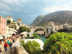 Old Bridge Mostar Bosnia and Herzegovina Fuji SX1 UNESCO World Heritage Center from 15th centuries