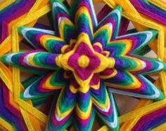 My artwork, the Ojo de Dios yarn mandala Diy Home Crafts, Arts And Crafts, Arrow Art, Fibre And Fabric, Gods Eye, Indian Mandala, Weaving Textiles, Idee Diy, Yarn Bombing