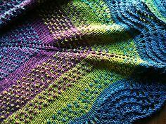 Châle Pointillés de miclasouris by Michèle Aixala, Free pattern in French