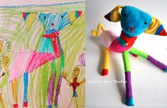 Send them a kids drawing and they send you back a toy. Brilliant! (pinned by Kidherostories.com- personalized books for kids with their photo and name.)