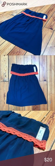Auburn Blue and Orange Game Day Dress Auburn Blue and Orange Game Day Dress // War Eagle! This dress was bought from a boutique for game day, was never worn, and is now ready for a good AU fan's home! It is on the shorter side as an FYI as well! Dresses Strapless