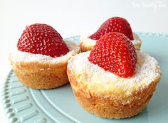 Buttery Cream Cheese Bites baked in muffin tins: I've previously seen these baked as bars, and I bet they bake faster and package prettier this way.