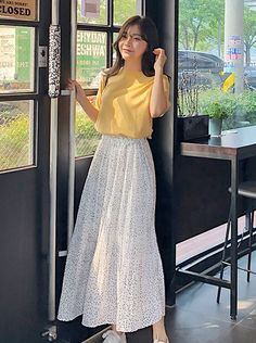 Check Out the Lastest Korean Clothes Fashion Style Trend - High Quality Long Ski. - Check Out the Lastest Korean Clothes Fashion Style Trend – High Quality Long Skirt by MakMaks The - Korean Girl Fashion, Korean Fashion Trends, Ulzzang Fashion, Korean Street Fashion, Muslim Fashion, Look Fashion, Fashion Outfits, Modest Fashion, Fashion Check