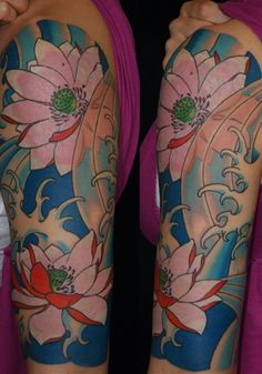Colorful flower sleeve