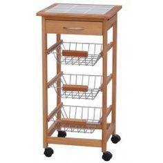 carrello da cucina in legno h12215