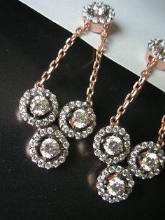 ELENI EARRING victorian antique diamond inspired by FIGistanbul