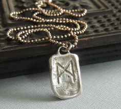 Sterling Silver Necklace, Celtic Rune Symbol Necklace, Silver Pendant, Artisan Silver, Handmade Jewelry, Sundance Style, For Him, For Her