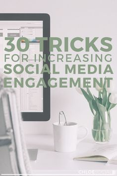 30 Tricks for Increasing Social Media Engagement - phenomenal advice from Chloe Social Marketing Services, Facebook Marketing, Small Business Marketing, Content Marketing, Social Media Marketing, Marketing Plan, Business Tips, Online Marketing, Marketing Strategies