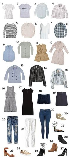 30 items you need in your closet; the ultimate capsule wardrobe (this seems impossible, but man I would have so much more closet space!!!)