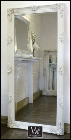 Abbey Leaner Cream Vintage Antique Wall Mirror 5ft 6in x 2ft 8in (168 x 81cm) | eBay