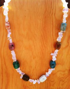 ON SALE Calming Moonstone and Agate Bead Necklace by TripIntoLight, $10.00