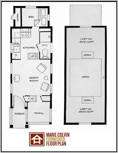 Tiny house  Floor plans and Studio apartments on PinterestThe Marie Colvin I really like the cabinet bed on the main floor  compact