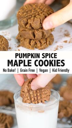 Healthy Holiday Recipes, Healthy Cookie Recipes, Sugar Free Recipes, Healthy Cookies, Gluten Free Recipes, Low Carb Recipes, Paleo Fall Recipes, Gluten Free Desserts, Healthy Meals