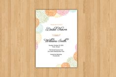 Bridal Shower Invitation Template  @creativework247