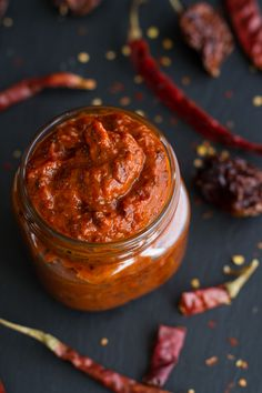 Homemade Harissa (Spicy Red Pepper Sauce) | halfbakedharvest.com