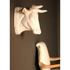 Fashioned after decorative livestock models commonly found in French kitchens.