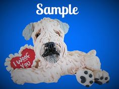 Soft-Coated Wheaten Terrier I Woof You love by sallysbitsofclay
