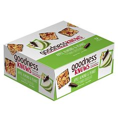 goodnessKNOWS Apple, Almond, Peanut & Dark Chocolate Gluten Free Snack Square Bars 12-Count Box *** Read more at the image link. (This is an affiliate link) #healthysnackpeanuts