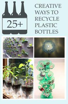 25+ Creative Ways to Recycle Plastic Bottles #DIY